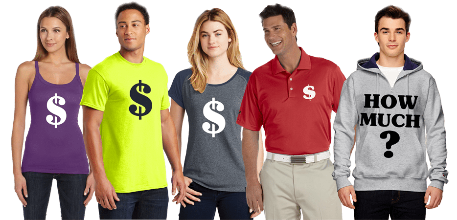 custom apparel pricing