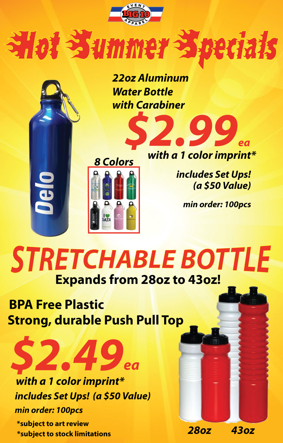 Stretchable Bottle Summer Special